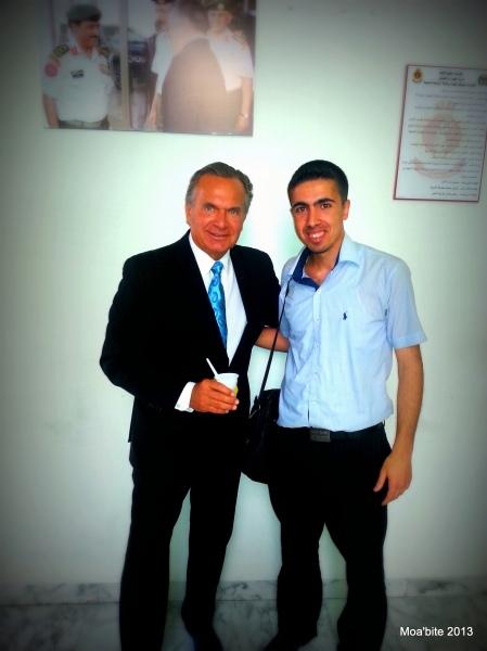 Jameel Khaleel Hijazeen with Dr. Andrew Ordon
