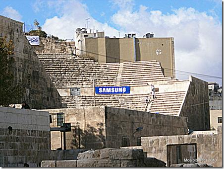 Samsung Logo in the Roman Amphitheater, Amman, Jordan.