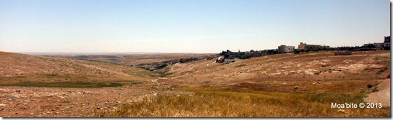 A view of the northern part of the village of Smakieh. The Christian cemetry of Smakieh appears in the distance.