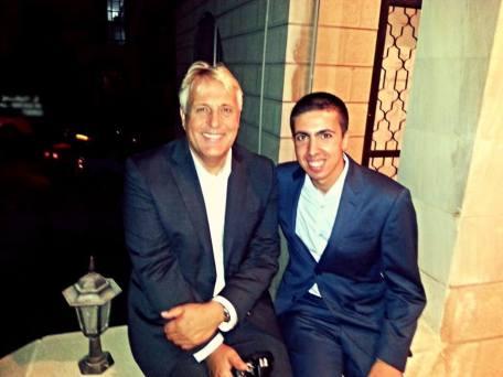Jameel Hijazeen (Moa'bite) with Prof. Jean Decety, Amman, Jordan, 11/09/2013