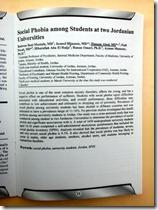 Abstract - Social Phobia among Students at Two Jordanian Universities