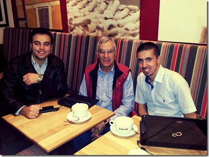 Dr. Fadi Farah and I, with our great supervisor Dr. Radwan Bani Mustafa.