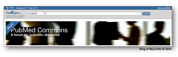 PubMed Commons:  A system for commenting on  articles in PubMed