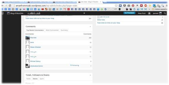 The top commenters in my Blog are one of the information that is shown in the statistics page of my free wordpress blog